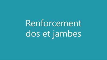 Renforcement dos et jambes – Kiné Wouluwe, kiné Etterbeek