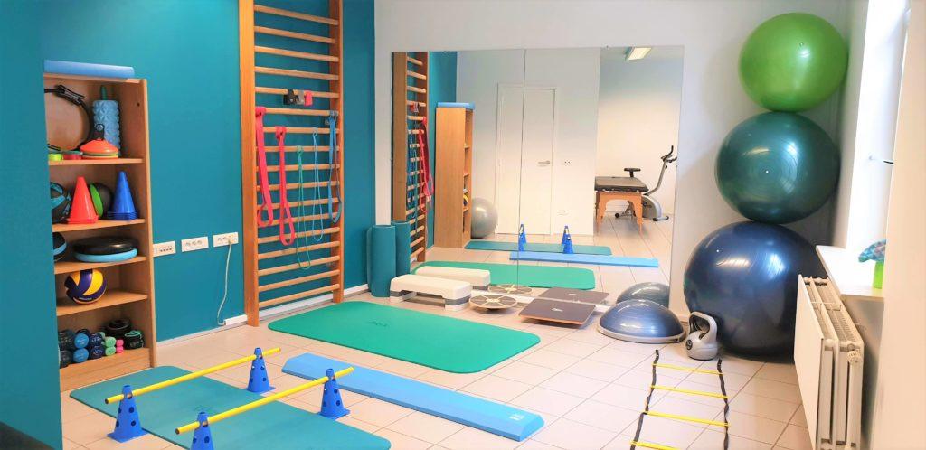 photo de la salle de gym et rééducation à etterbeek